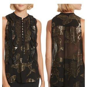 A.L.C Tomei sleeveless metallic blouse